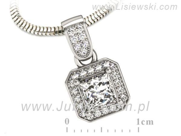 Cudowna złota zawieszka z diamentami - W15334b - 1