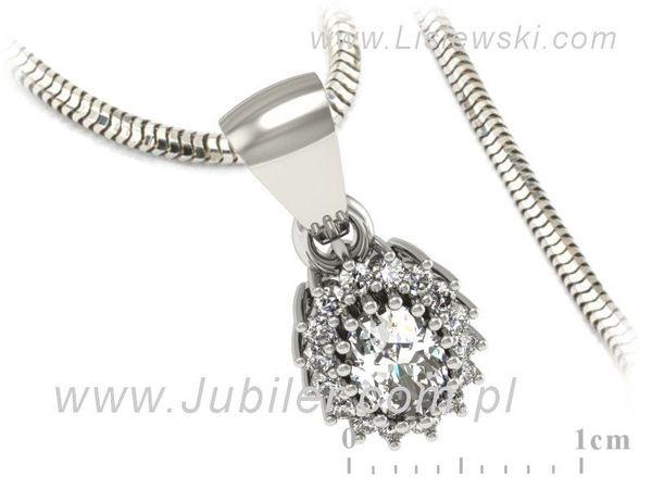 Wisiorek z białego złota z diamentami - w15088b - 1