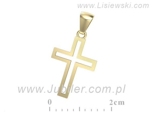 Krzyżyk z żółtego złota - w20001z - 1