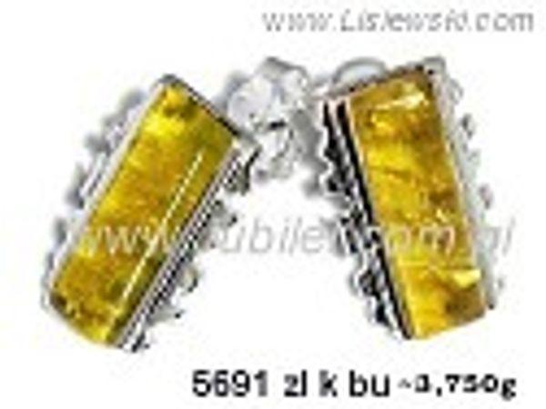 Kolczyki srebrne z bursztynem żółtym próby 925 - 5691zlkbu - 1
