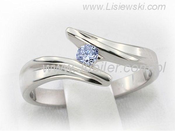 Imponujący pierścionek zaręczynowy z białego złota z brylantem - b1198_skyblue_08ct - 1
