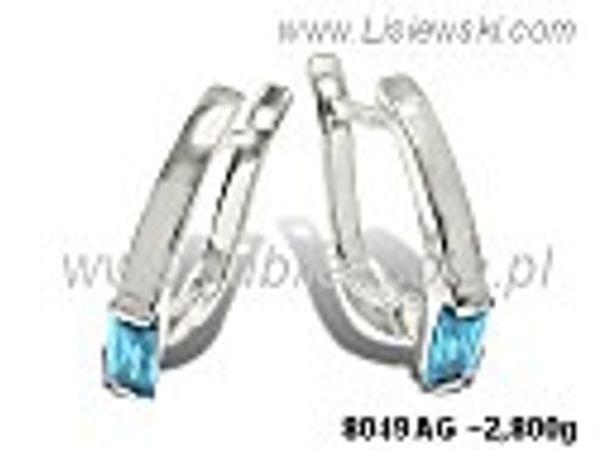 Kolczyki srebrne z akwamarynami próby 925 - 8049ag - 1