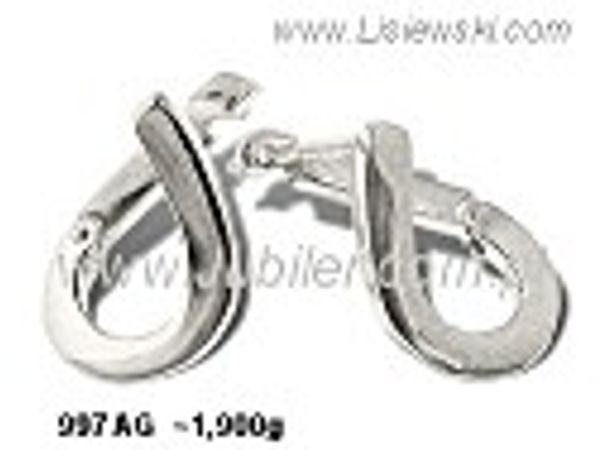 Kolczyki srebrne próby 925 - 997ag - 1