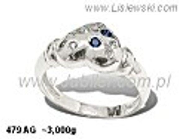 Pierścionek srebrny z cyrkoniami i spinelami próby 925 - 479ag - 1