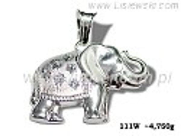 Wisiorek srebrny z cyrkoniami matowany próby 925 - 111w - 1