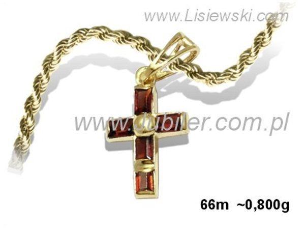 Krzyżyk z żółtego złota z granatami - 66m_0_8 - 1