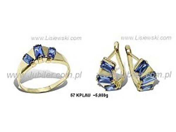 Komplet biżuterii z żółtego złota ze spinelami - 57kplau_5_8 - 1