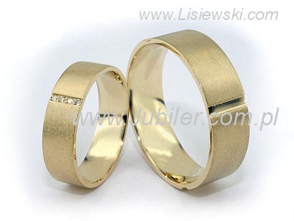 Olśniewające złote obrączki ślubne z brylantami - 04.81288obr_pro - 1
