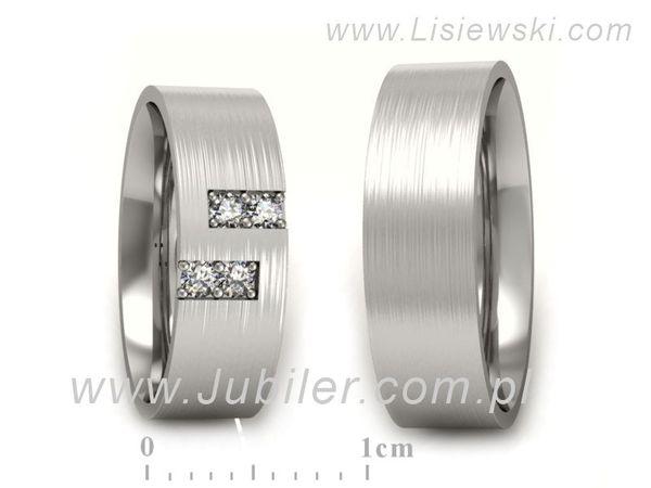 Obrączki z białego złota z brylantami - P60160T45BM - 1