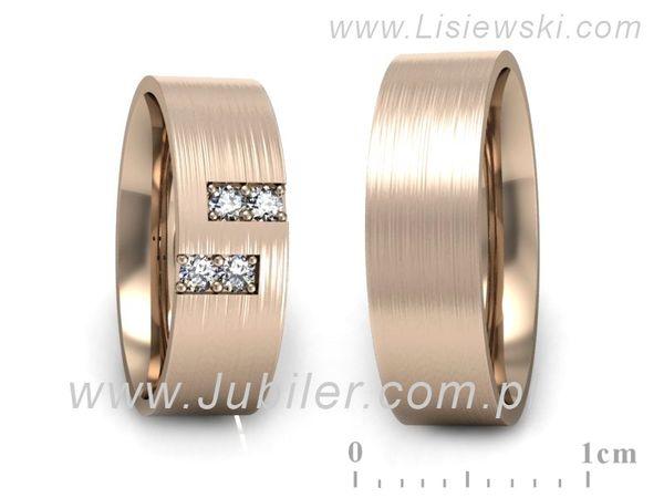 Obrączki z różowego złota z brylantami - P60160T45RM - 1