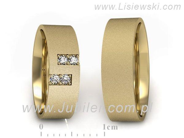 Obrączki z żółtego złota z brylantami - P60160T45ZM - 1