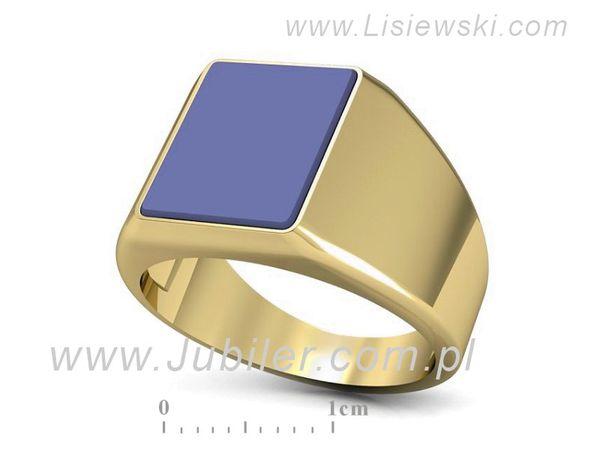 Idealny sygnet z żółtego złota z sygnetówką - sgp5 - 1