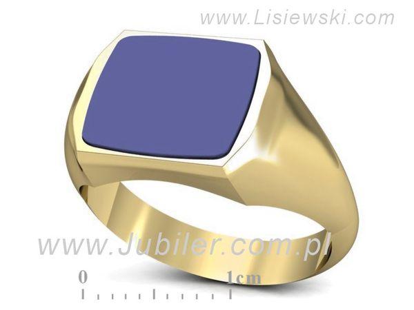 Sygnet z żółtego złota z sygnetówką - sgp52 - 1