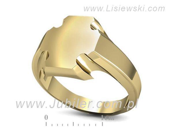 Złoty sygnet rodowy - sg39 - 1