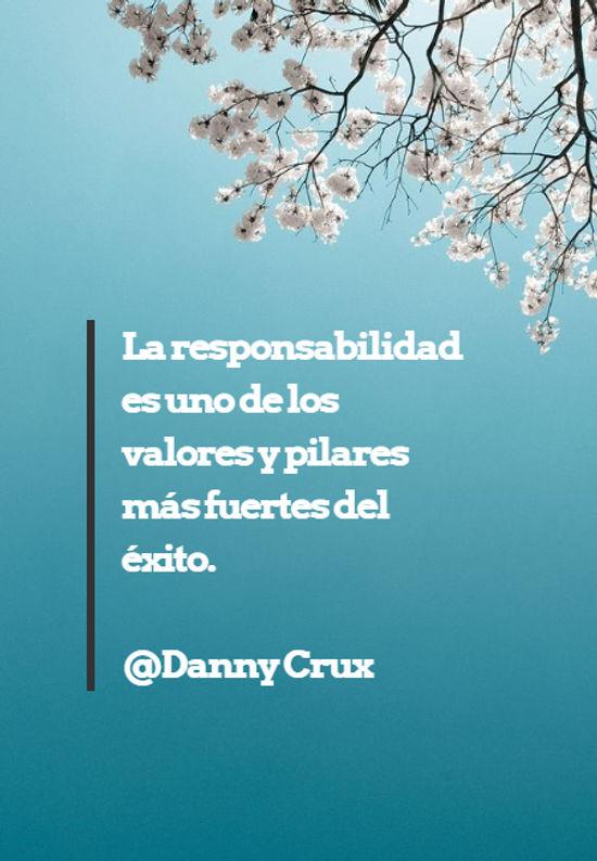 Crea Tu Frase La Responsabilidad Es Uno De Los Valores Y