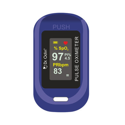 Pulse Oximeter with PI% Blue Color