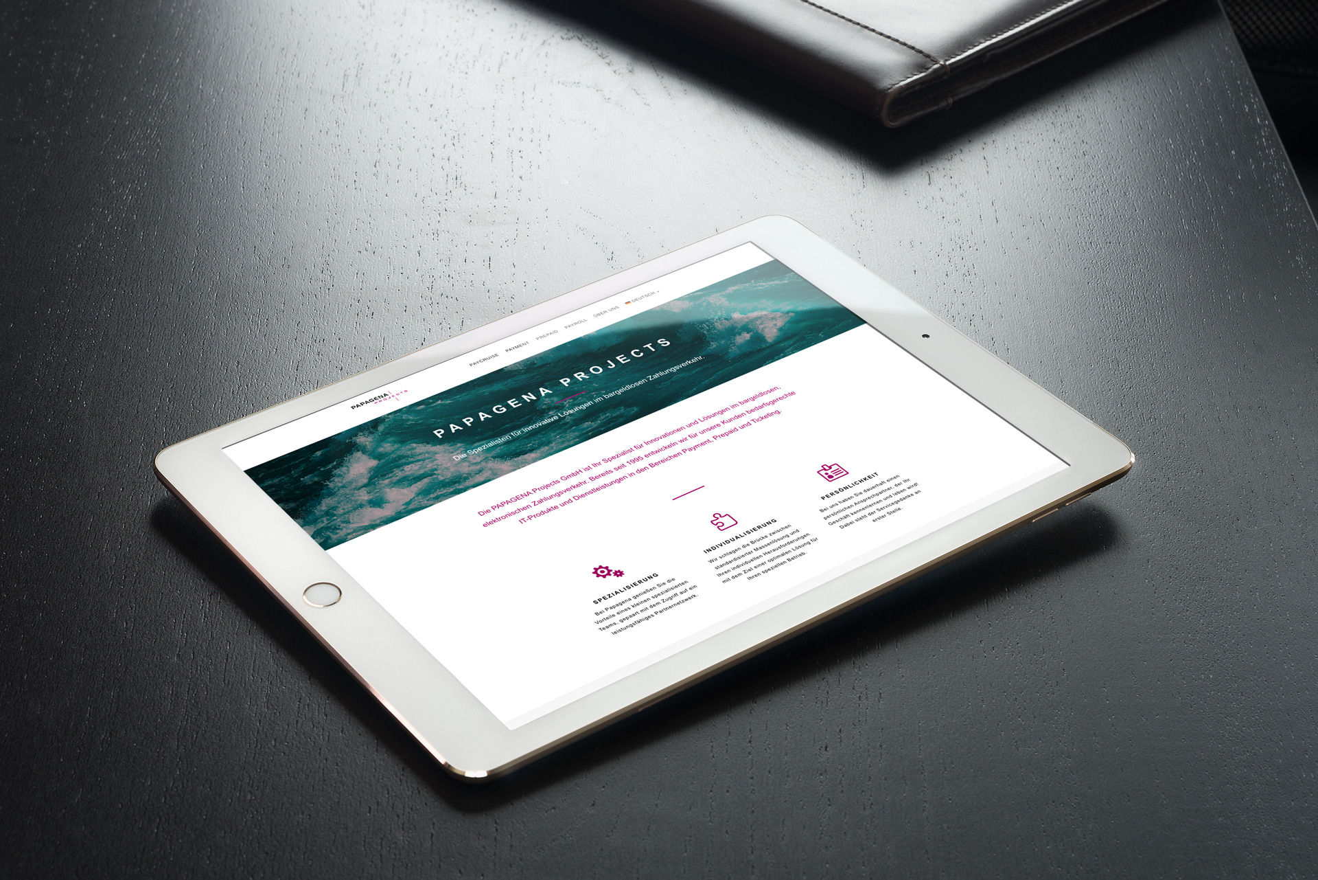 Papagena Projects Webdesign