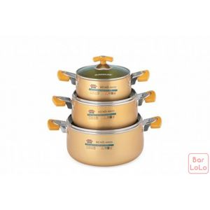 SUNHOUSE ANODIZED COOKWARE SET (3PCS)(SH-8834)-57255