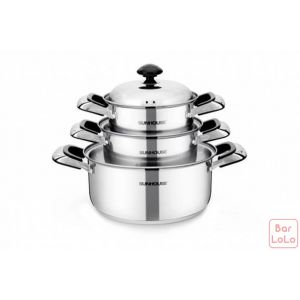 SunHouse Cookware Pot Set (Code - SH333)-56447