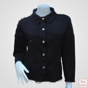 Women Jean Jacket ( black )-42365