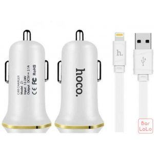 Hoco Iphone Car Charger Set ( Z1 )-51043
