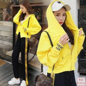 Yellow Off Hoodie One Set-76232