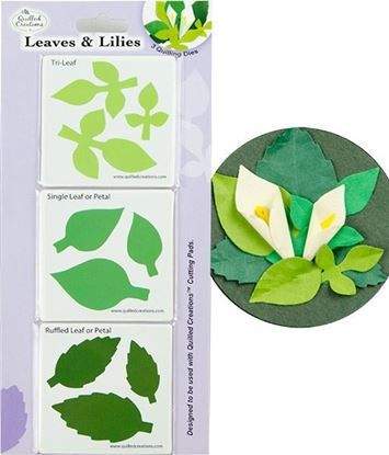 Picture of Leaves & Lilies Quilling Dies