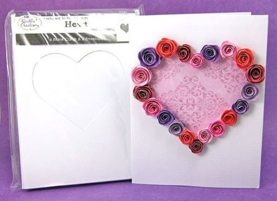 Picture of Heart Tri-Fold Cards and Envelopes