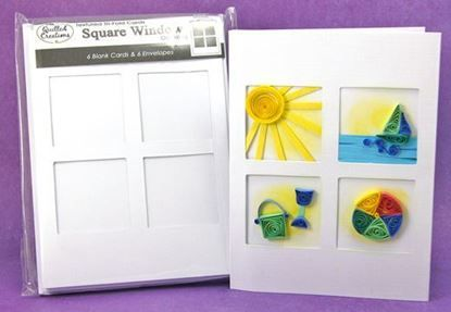 Picture of Square Window Tri-Fold Cards and Envelopes