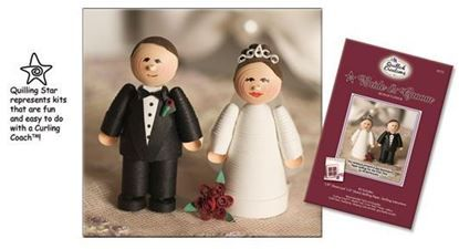 Picture of Bride & Groom Miniature Quilling Kit