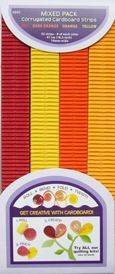 Picture of Red-Dark Orange-Yellow-Orange Corrugated Strips