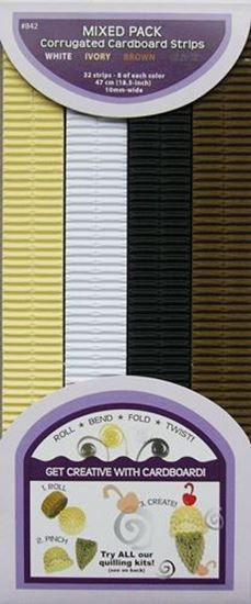 Picture of White-Ivory-Brown-Black Corrugated Strips