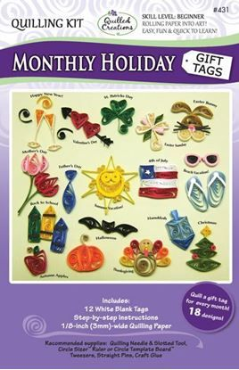 Monthly Holiday Tags Quilling Kit