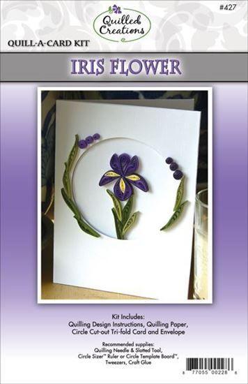 Iris Flower Quilling Card Kit