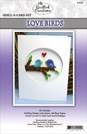 Love Birds Quilling Card Kit