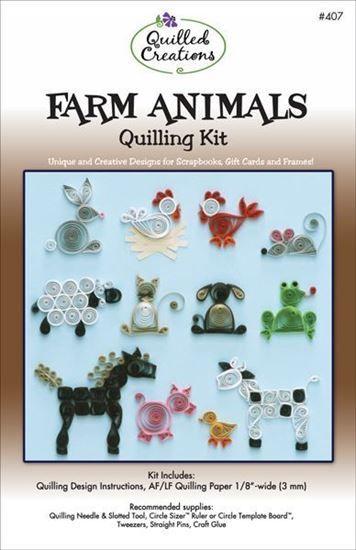 Farm Animals Quilling Kit