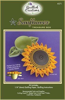 Sunflower Treasure Box Quilling Kit