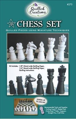 Chess Set Miniature Quilling Kit