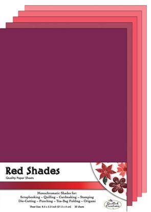 Red Shades Quilling Paper Sheets