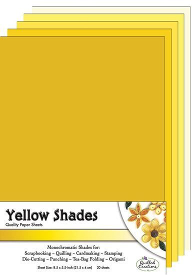 Yellow Shades  Quilling Paper Sheets