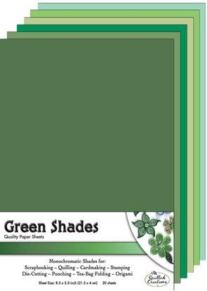 Green Shades  Quilling Paper Sheets