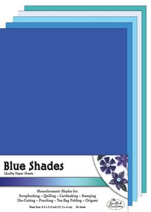 Blue Shades  Quilling Paper Sheets