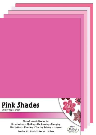 Pink Shades  Quilling Paper Sheets