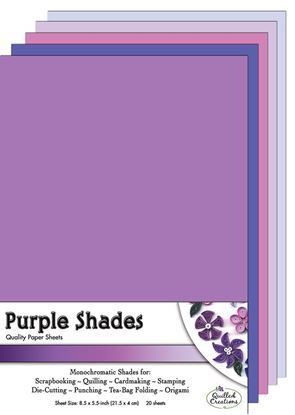 Purple Shades Quilling Paper Sheets
