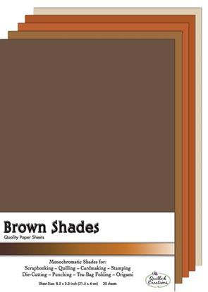 Brown Shades Quilling Paper Sheets