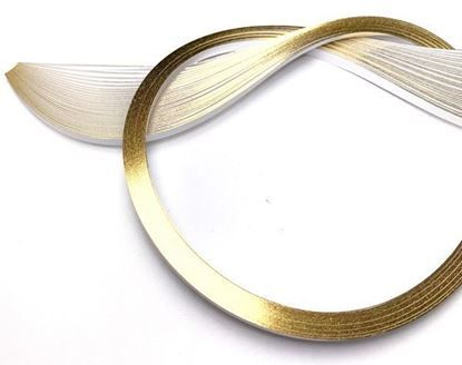 Gold Edging on Bright White Quilling Paper