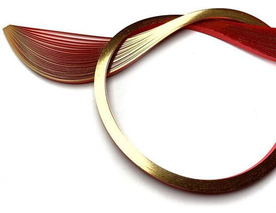 Gold Edging on Red Quilling Paper