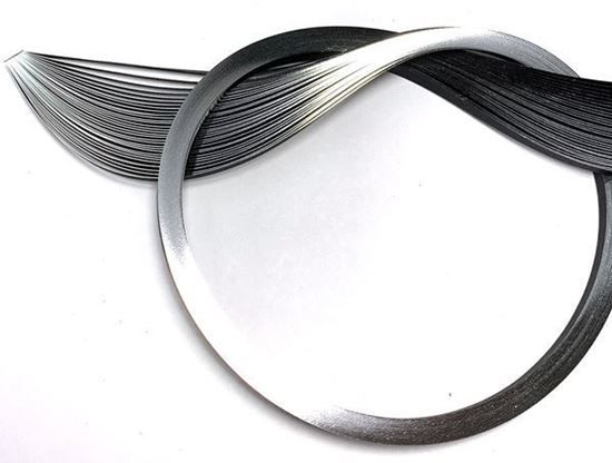 Silver Edging on Black Quilling Paper