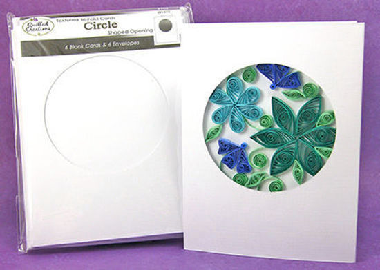 Picture of Circle Tri-Fold Cards and Envelopes