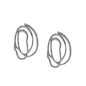 Silver-Toned Quirky Drop Earrings
